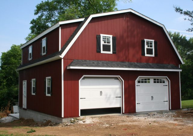 28x32 2-Story Gambrel Style Garage