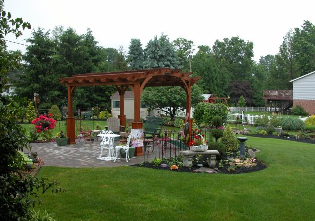 10x13 Wood Hearthside Pergola