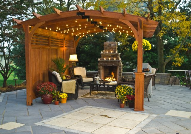 10x15 Wood Hearthside Pergola