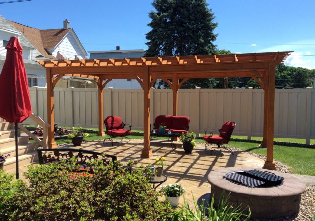 12x20 Traditional Wood Pergola
