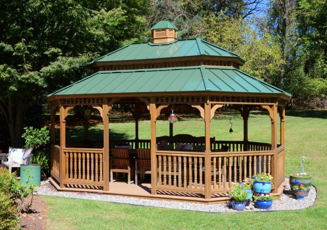 12x20 Wood Oval Gazebo