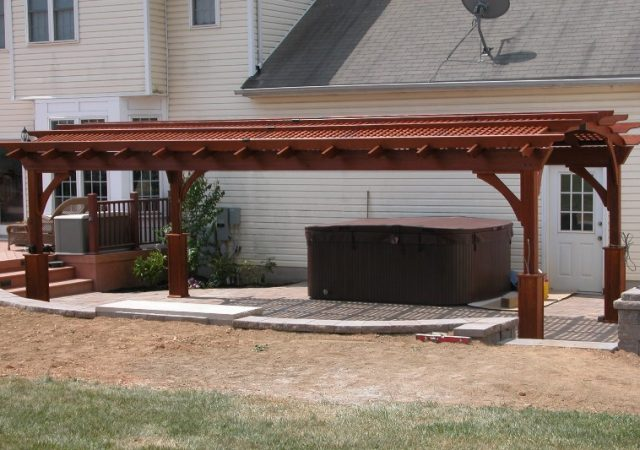 12x24 Wood Hearthside Pergola