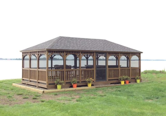 14x28 Rectangle Wood Gazebo