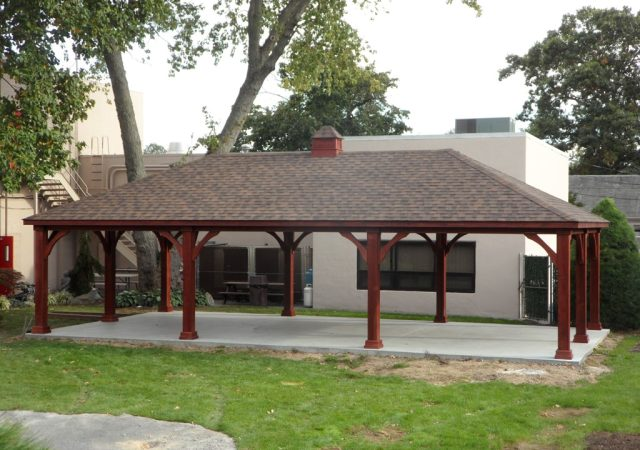 20x40 Traditional Wood Pavilion sm