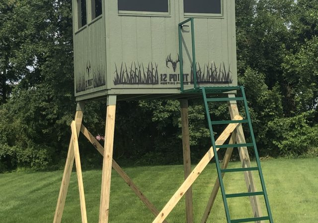 6x6 Hunting Blind(The Double Barrel) with Optional 10' Stand
