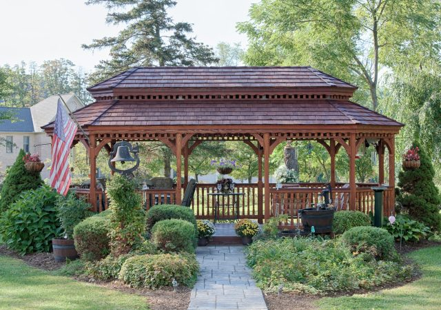 Photo Gazebo- 12x24 Oval Wood Gazebo (1)