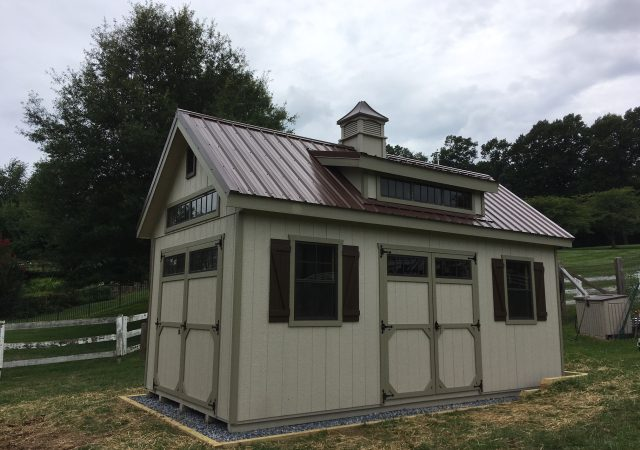 10x20 Garden Elite with Optional Transome Dormer and Metal Roof
