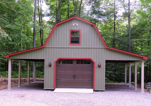 14x28 2- Story Gambrel with 2- 8' Overhangs Steve Odams