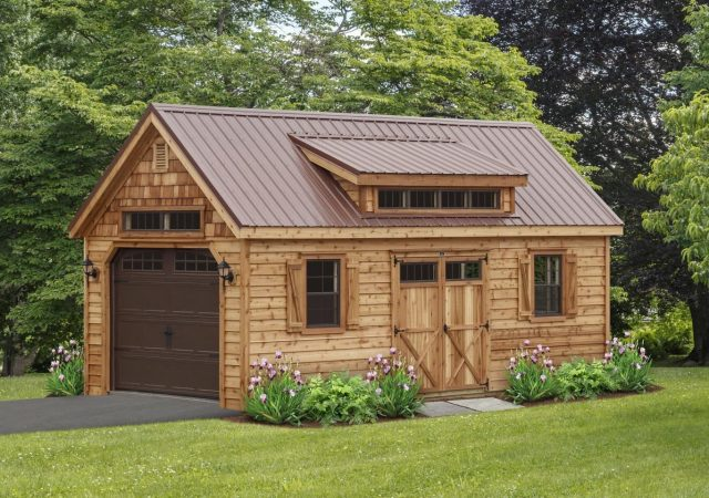 12x24 Cedar Garden Elite with G-Rib Metal
