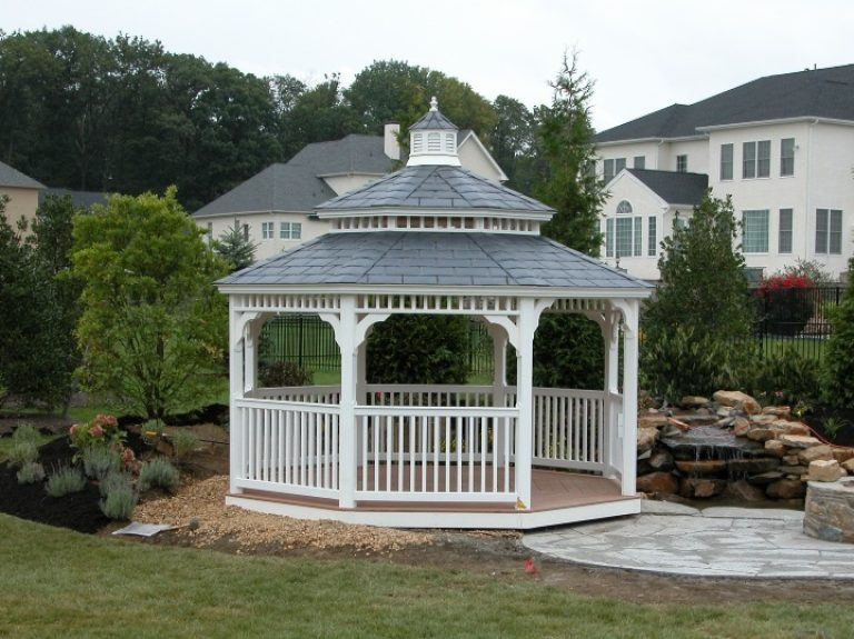 Gaze Across the Garden From Your Gazebo