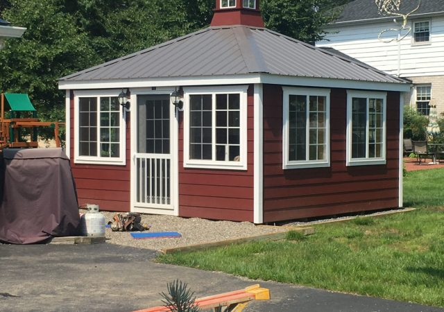 14x14 Deluxe Sunroom with Optional Lap Siding and Metal Roof
