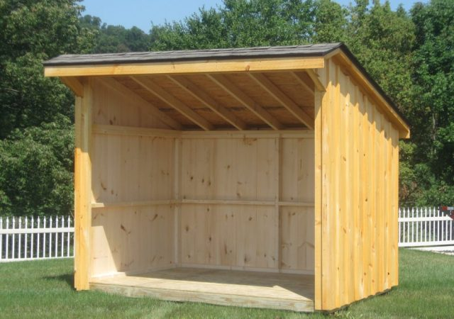 6x8 Firewood Shed.